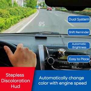 CAR OBD2 MODEL HUD HEAD UP DISPLAY SPEEDOMETER LED PROJECTOR OVER SPEED ALARM