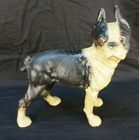 Vintage Cast Iron Boston Terrier Bank