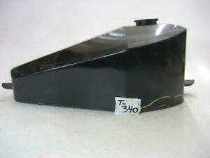 Used Coffin Gas Fuel Tank Custom Chopper Black, small dents, repairable  #T-390