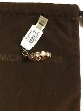 $125 Michael Kors Park Avenue Glam Crystal Band Rose Gold Ring Size 8 #45