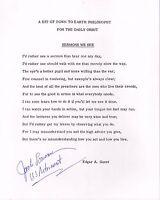 JACK LOUSMA autographed 8x10 poem by Edgar Guest         GREAT NASA ASTRONAUT