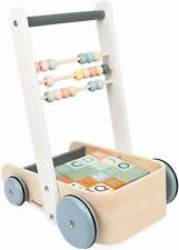 Janod SWEET COCOON CART WITH ABC BLOCKS Child Development Wooden Activity Toy BN