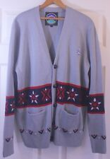 Men's MNWKA Mishka Brooklyn New York Street Wear Nordic Cardigan Sweater Sz L
