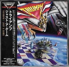 Triumph Just a Game (1979) Japón CD Obi 1995 Polystar – pscw - 5325/Rush