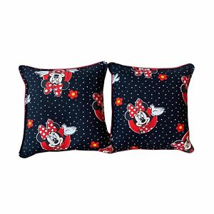 2 Minnie Mouse Cornhole Bean Bags Corn Toss Black, And Red In Color