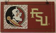 University Florida State Seminoles College NCAA Wood Plaque Sign Dorm a