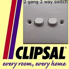 Clipsal 2 gang 2 way switch white plastic staircase lighting accessories NEW DIY