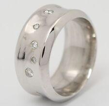 ♦♦ Brillant Ring in aus 14kt Weiß Gold mit Brilliant Brillanten Bandring Diamant
