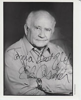 Picture card signed by actor ~ Ed Asner