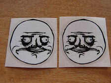 """Me Gusta"" Stickers - Black + White  - Pair of 65mm decals - Internet meme"