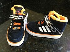 NEW ADIDAS SZ 5 TODDLER SUPERSTAR 2 ANIMAL LIMITED EDITION BLACK ORANGE CHAINS
