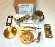 Falcon D221L 626 Single Cylinder x Rose Deadbolt Lock w/out Cyl SATIN CHROME NEW