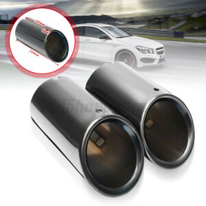 Stainless Steel S-line Exhaust Tail Muffler Tip Pipe 75mm For Audi A4 B8