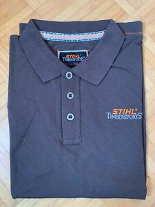 Stihl Timbersports Poloshirt dunkelbraun Sonderaktion Ausverkauf Restposten