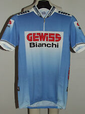 MAGLIA BICI CICLISMO SHIRT MAILLOT CYCLISM TEAM GEWISS BIANCHI 90'S tg. XXL