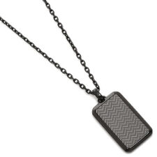 Brand New Emporio Armani Black/Grey Stainless Steel Men's Necklace - EGS2255060