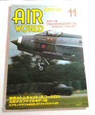 AIR WORLD 11 - 1987 JAPANESE MAGAZINE - INC. F-16 / SKYSHIELD 87 / MIG-21 / A330