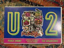 U2 Vintage Concert Poster * 1992 Oakland ZooTv * Public Enemy * 19x30 * Rare