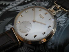 14K SOLID GOLD VINTAGE SWISS MADE LONGINES 17 JEWELS 43.50mm CASE