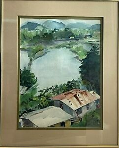 Colorful Watercolor West Coast Philippines South China Sea St. Louis College '87