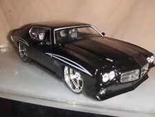 Toy Jada Dub Bigtime1:24 Black 1971 Pontiac GTO Judge Hot Rod Diecast Car