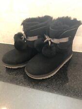 Girl's UGG Gita Boots-#1017403- Black- Size 5