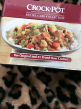 Crock Pot Recipe Tin w/ Recipes Collection Slow Cooker 2012 Kitchen Cook Chef