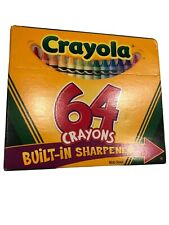 Vintage Crayola Crayons 64 Pack Built In Sharpener