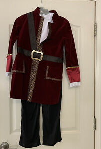 Nwt Disney Store Captain Hook Pirate Costume Sz 7/8 Boot Covers Jacket Pants