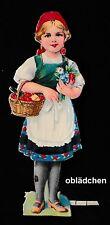 #Feuilles Chromos# Petit Chaperon Rouge 3 ,Env. de 1940 13 5 cm,Schön (Bien ) en