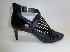 Calvin Klein Size 10 M CAMELLA Black Patent Leather Sandals New Womens Shoes