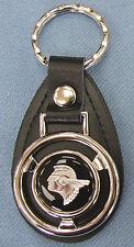 Black wSilver Pontiac CHIEF Mini Steering Wheel Leather Keyring 1965 1966 1967