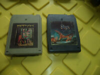 Lot of 2 - STYX - 8 Track Tapes - Equinox & The Grand Illusion Rare / Tested