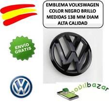 EMBLEMA LOGO VW NEGRO PARRILLA  VOLKSWAGEN GOLF GTI 6 138MM. 24 HORAS