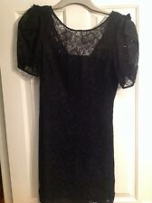 oasis Black lace party dress size 12