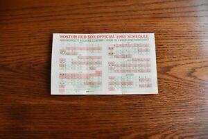 Vintage Boston Red Sox schedule