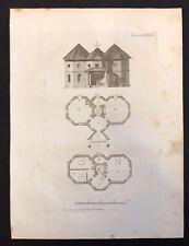 Antigüedad 1800 impresión constructores revista de diseño de arco. para una granja Casa Lxxxviii