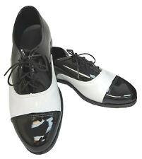 New Men's Black & White Tuxedo Shoes Cap Toe Retro Prom Spats Dress Shoes 14M