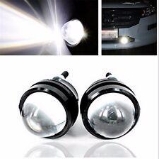 2Pcs LED White Fish Eye CREE DRL Projector Lens Fog Daytime Running Light Bulbs