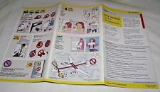 NWA Safety DC9 30/40/50 Information Card Northwest MINT Airline Airplane 2003