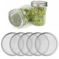 5 Stainless Steel Sprouting Lid Mesh Screen Strainer Filter Cover for Mason Jar