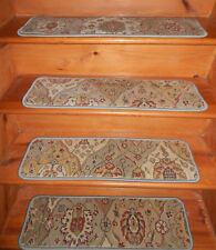 "13 = Step  9'' x 30'' + 1 Runner 38"" x 110"" Stair Treads Tufted Wool Carpet"