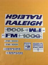 Original Raleigh Bike Stickers : FM 1000 City
