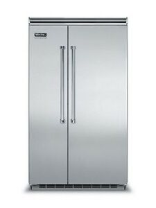 "Viking 48"" Side by Side Refrigerator w Free Appliance - VCSB5483SS"