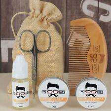 Starter Beard Care Kit | Oil, Balm, Moustache Wax, Comb & Scissors | 8 Scents