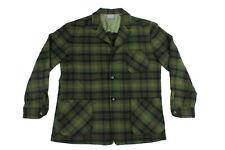 New listing Vintage 1960S Pendleton Virgin Wool Blazer Shirt Leather Buttons Size Large!