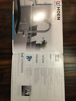 Moen 87090MSRS Indi Single-Handle Pull-Down Sprayer Kitchen Faucet with Reflex,