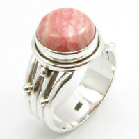 Rhodochros?ite Ring Size 6 Deco Handcrafted Jewelry 925 Sterling Silver