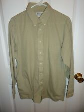 Men's size 15 1/2  32-33 Tan & Black Plaid Arrow Bradstreet   Long Sleeve Shirt