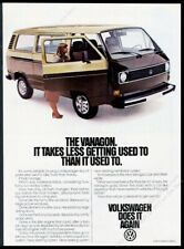1981 VW Vanagon photo Less Getting Used To vintage Volkswagen print ad